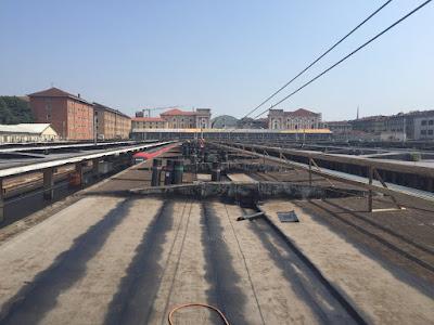 Pensiline stazione Torino Porta Nuova, guaine bituminose