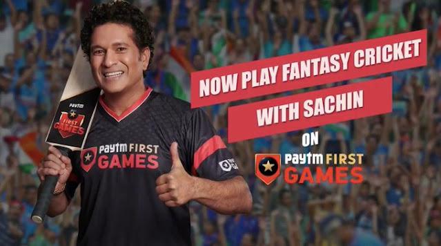 Sachin Tendulkar joins Paytm First Games as Brand Ambassador!