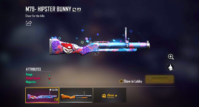 Hipster Bunny Weapon set