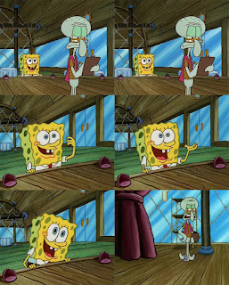 Polosan meme spongebob dan patrick 65 - squidward elit jadi manager drama