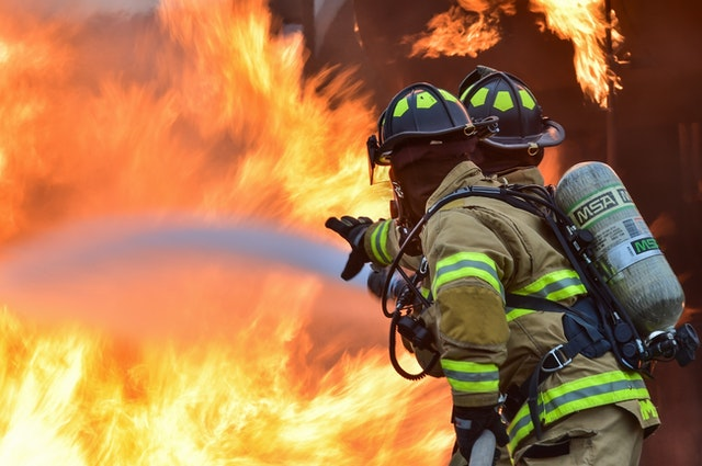 fire fighters, firefighter, to the rescue, firemen save a house, fireman to the rescue