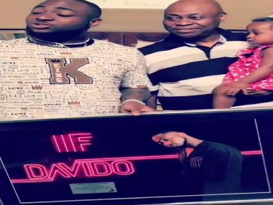 [VIDEO]: Davido Presents His Plaques Of Success To His Father