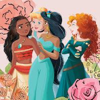 Moana, Cinderella, Jasmine, and Merida lean in for girl talk