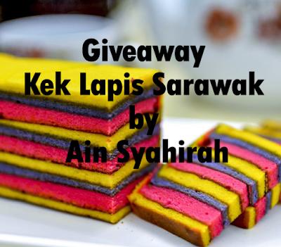 giveaway kek lapis sarawak