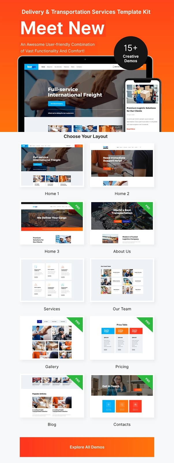 Delivery & Storage Website Template