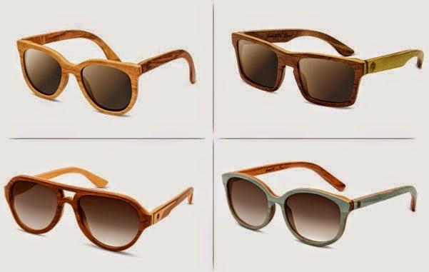d7d5040bb64bc Os óculos de sol que vão ser tendência em 2015 tem acabamentos de madeira  ou bambu.