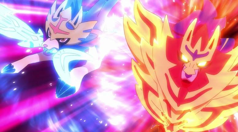 Zacian e Zamazenta no Anime Pokémon
