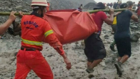 Tragic accident in Myanmar, landslides in rain killed more than 100 people