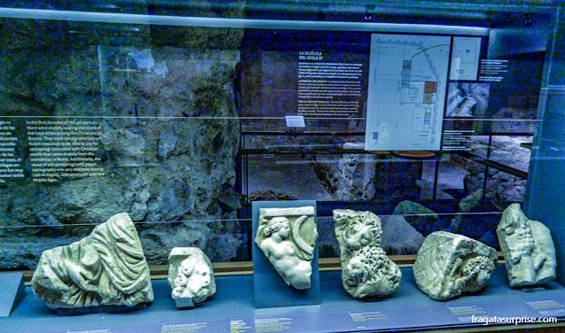 Vestígios romanos encontrados no Sítio Arqueológico de Barcino