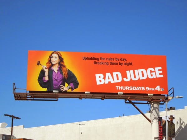 Bad Judge series launch billboard