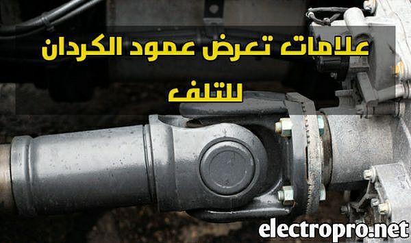 علامات تعرض عمود الكردان للتلف