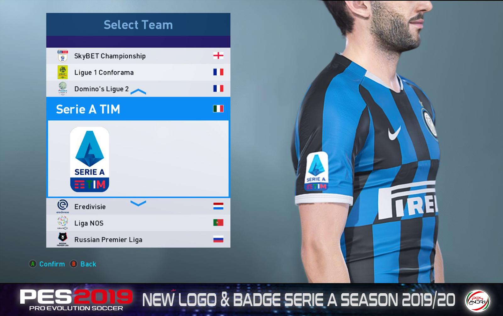 PES ANDRI: PES 2019 New Logo & Badge Serie A Season 2019/20