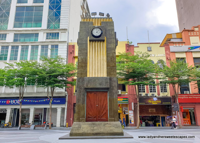 Medan Pasar's art deco clock tower