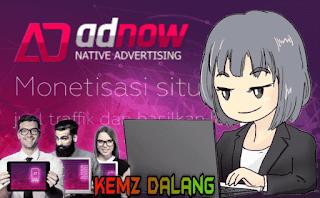 native ads adnow, cara daftar dan memasang iklan adnow di blogspot
