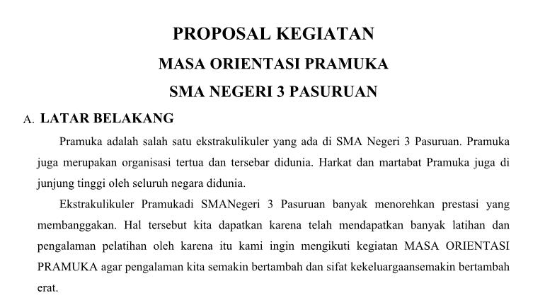 proposal pramuka penegak