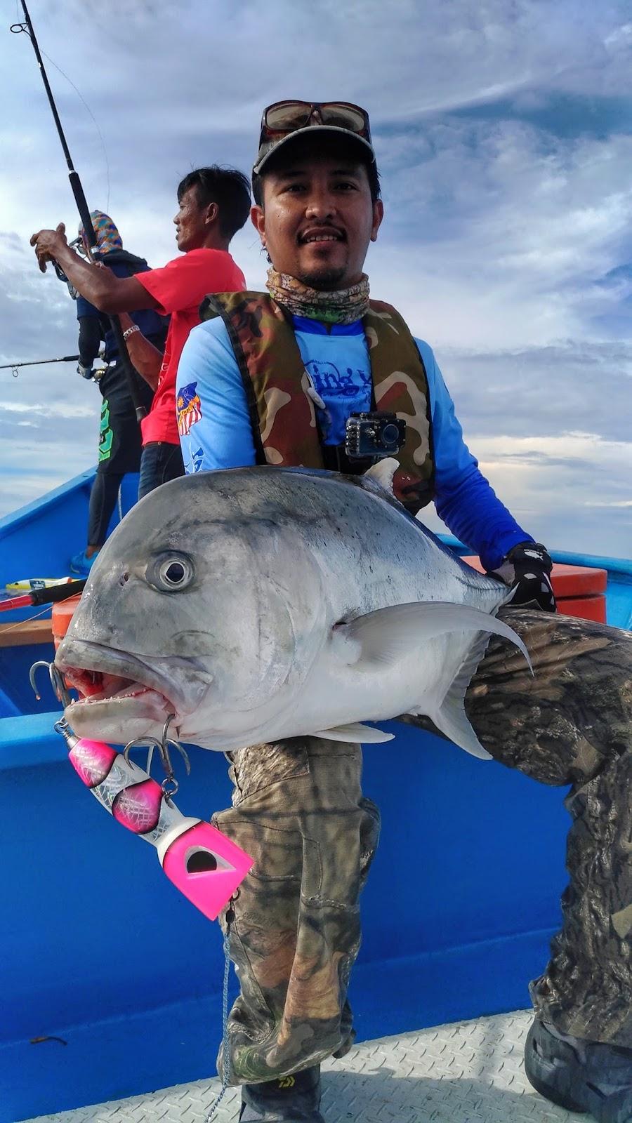 Fishing Xpdc Grey Giant Trevally Hitam M Gt Terakhir Untuk Hari Pertama