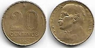 20 centavos, 1952