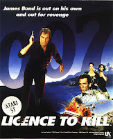 Carátula del videojuego de 1989, 007: Licencia para matar, para ATARI ST