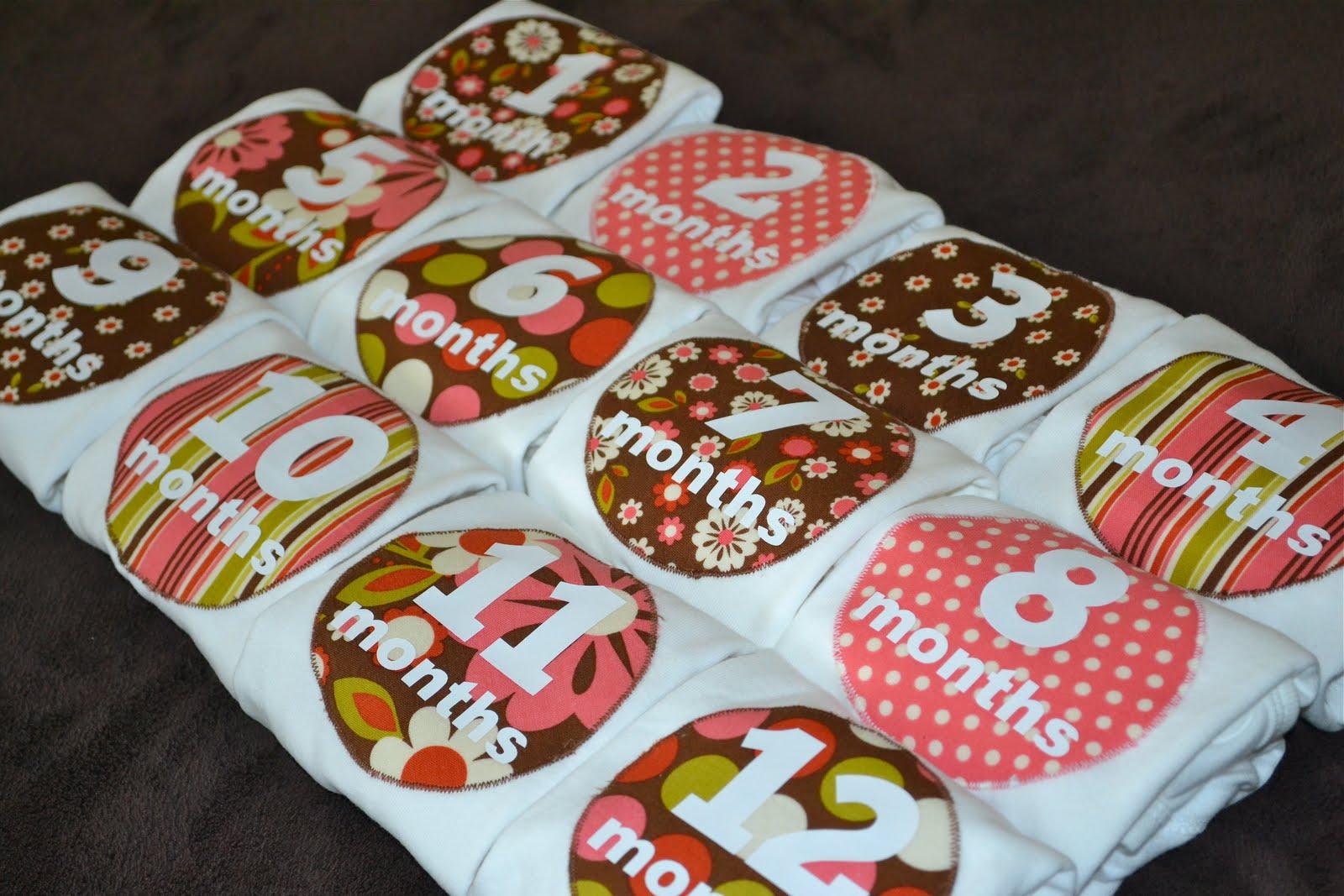Random Craft: Baby Monthly Onesies