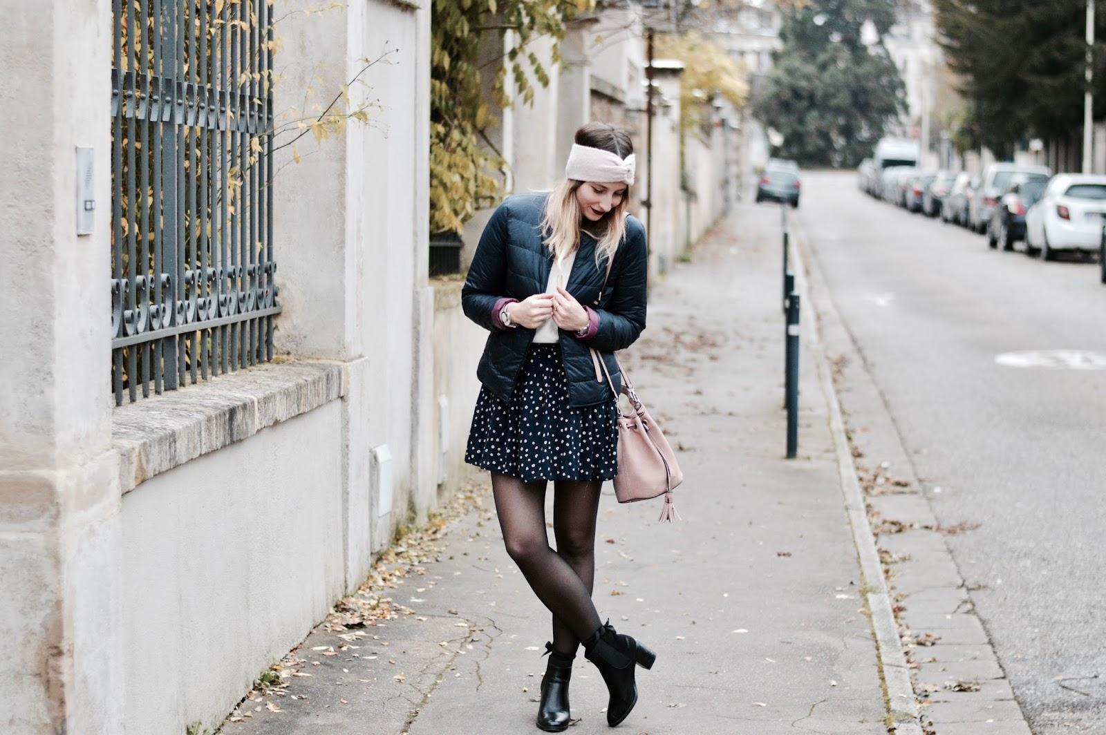 blog mode : féminine en doudoune / Look femme : automne/hiver 2017