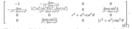 Kerr metric shows effect of black hole rotation on spacetime (Source: Matt Visser, arXiv:0706.0622v3)