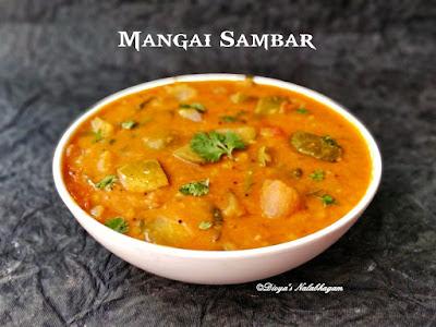 Mangai sambar,Raw mango sambar