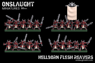 10mm Hellborn Flesh Reavers by Onslaught Miniatures