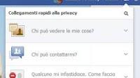 Modifiche veloci alla privacy su Facebook e registro attività con filtri