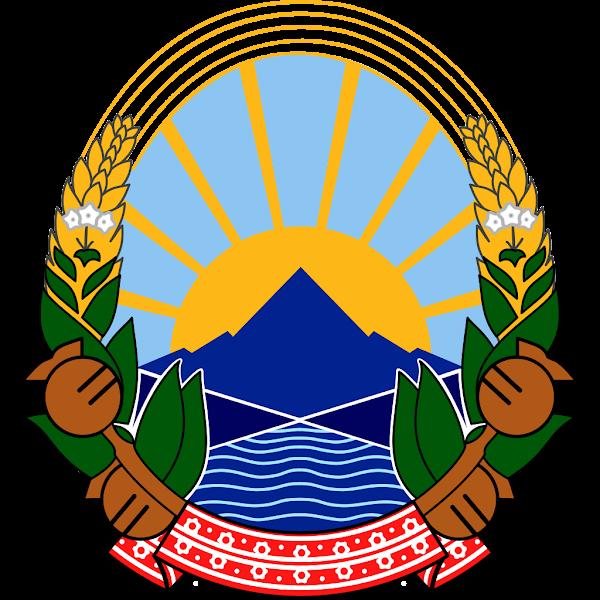 Logo Gambar Lambang Simbol Negara Makedonia Utara PNG JPG ukuran 600 px