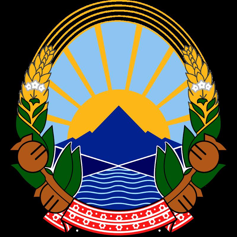 Logo Gambar Lambang Simbol Negara Makedonia Utara PNG JPG ukuran 800 px