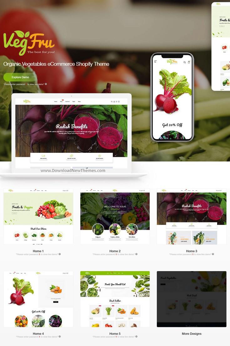 Vegetables eCommerce Shopify Theme