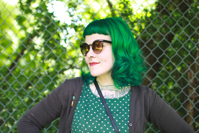 the dainty squid hair, green hair