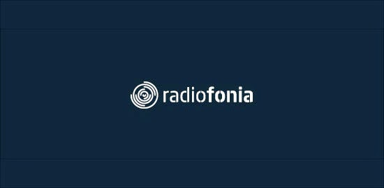 Bold & Thin line Logo Radio Fonia