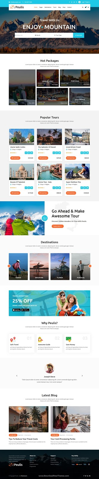 Travel Agency & Tourism HTML Template
