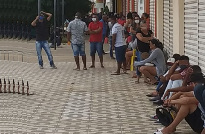 Juazeiro (BA): Agências bancárias continuam tendo filas e aglomeração para atendimento nesta segunda (4) - Portal Spy Noticias Juazeiro Petrolina