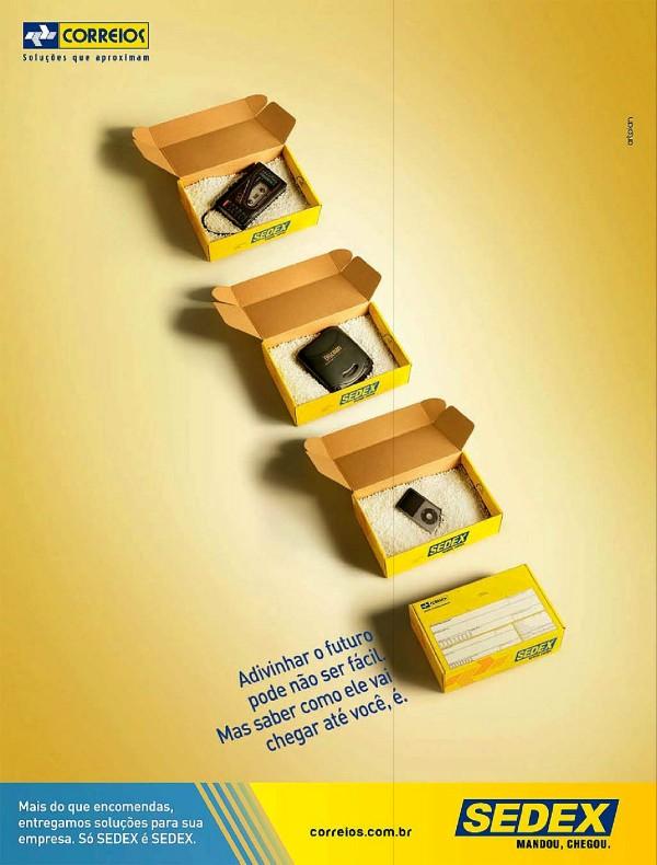 Propaganda veiculada em 2011 dos Correios promovendo o serviço de Sedex