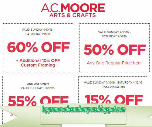 picture relating to Ac Moore Printable Coupons named Absolutely free Promo Codes and Discount coupons 2019: AC Moore Discount coupons