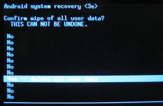 wipe data dan factory data reset