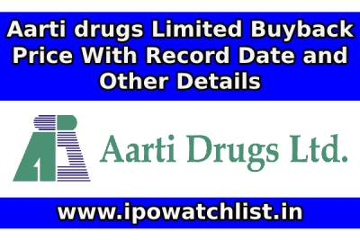 Aarti drugs Limited Buyback Price With Record Date and Other Details - Aarti drugs Limited Buyback