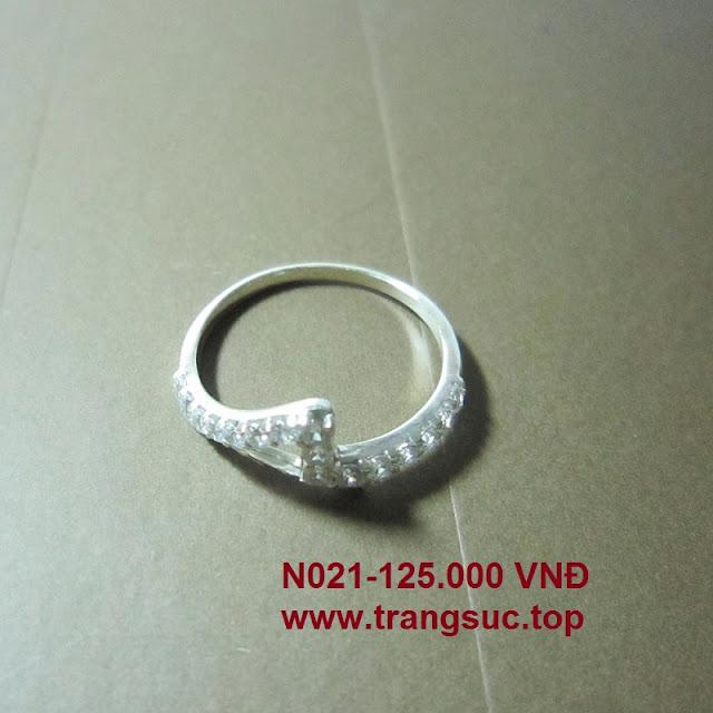 TrangSuc.top - Nhẫn đính đá trắng cao cấp MSN021 - 125.000 VNĐ Liên hệ: 0906 846366(Mr.Giang)
