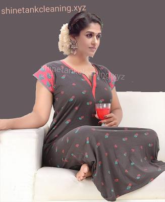 Nayantara-In-Night-Dress