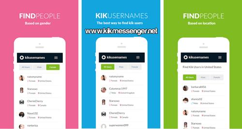 Lista de username o Kikfriends con KU Find Kik Usernames