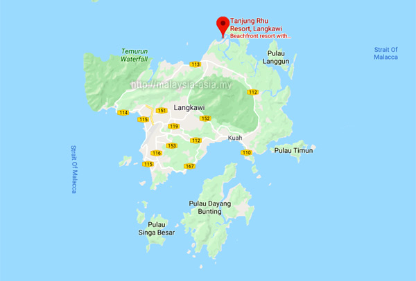 Location of Tanjung Rhu Resort