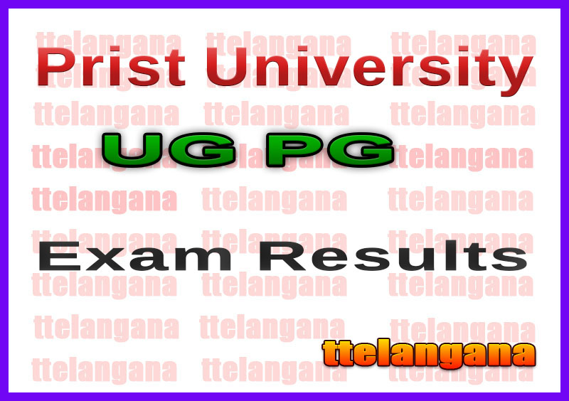 Prist University UG PG Exam Result