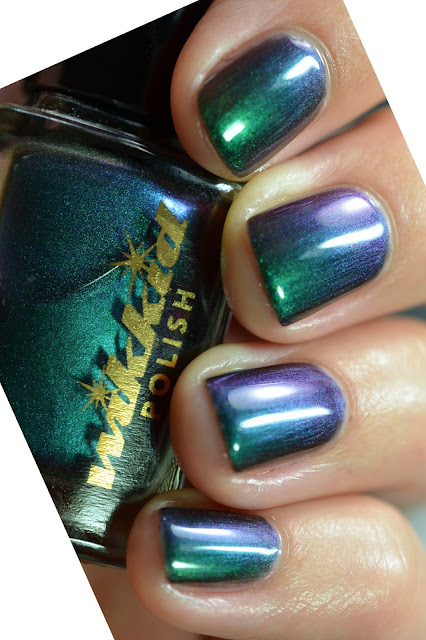 green purple turquoise multichrome nail polish