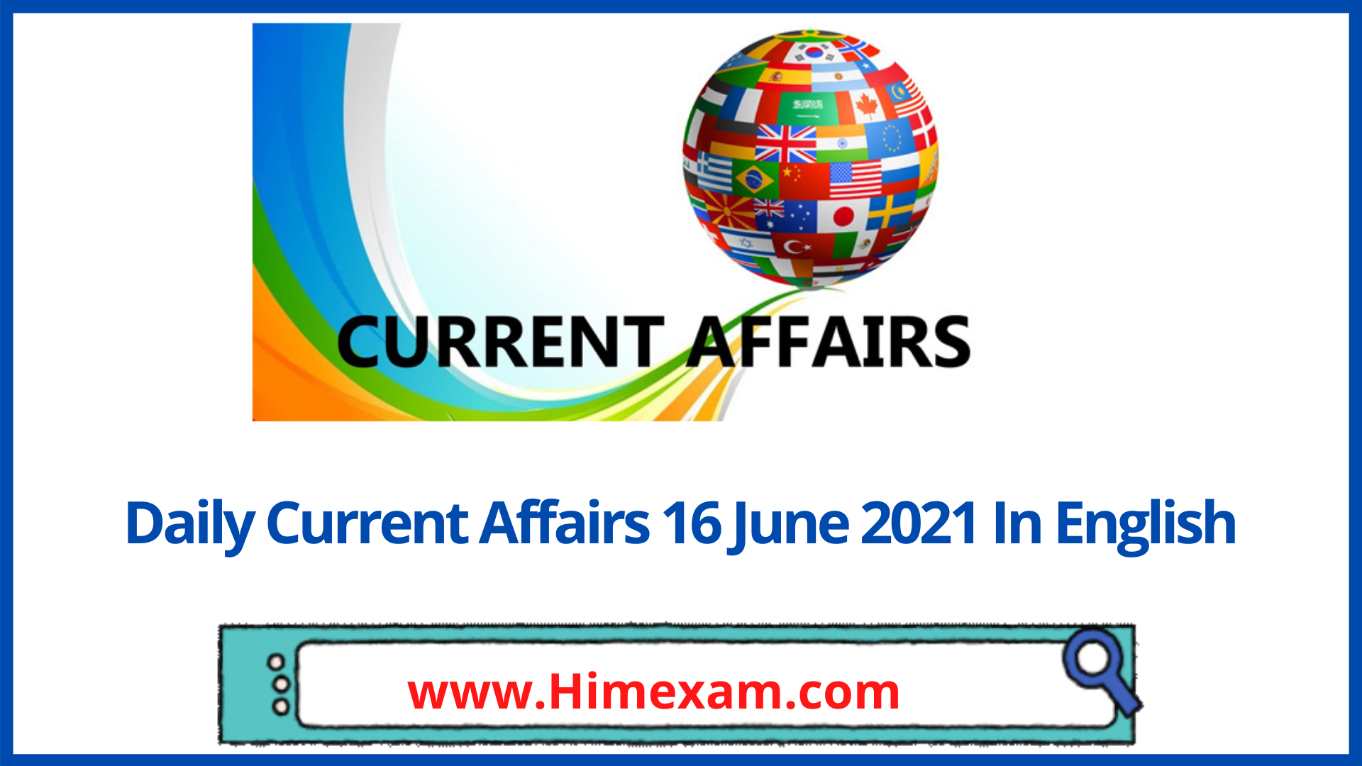 Daily Current Affairs 16 June 2021 In English