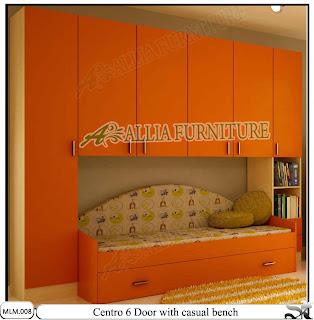 Lemari Modern Minimalis dan Sofa Centro Orange