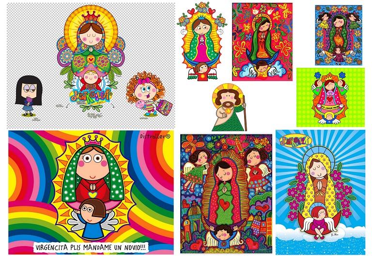 4a59b9097a38 Bellas Imágenes de Santos y Virgencitas Plis o Virgencitas Modernas ...