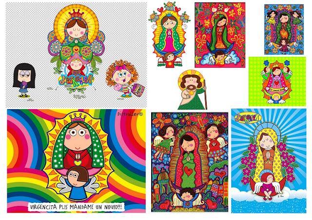 Bellas Imágenes de Santos y Virgencitas Plis o Virgencitas Modernas.
