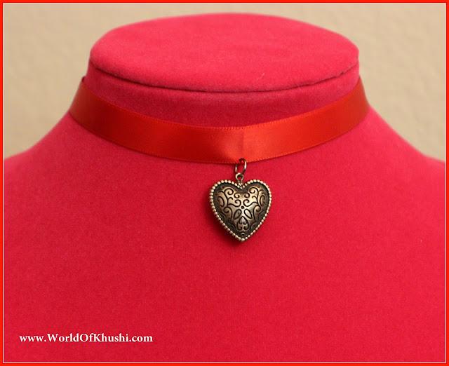 KhushiWorld_HeartPendantChokerNecklace